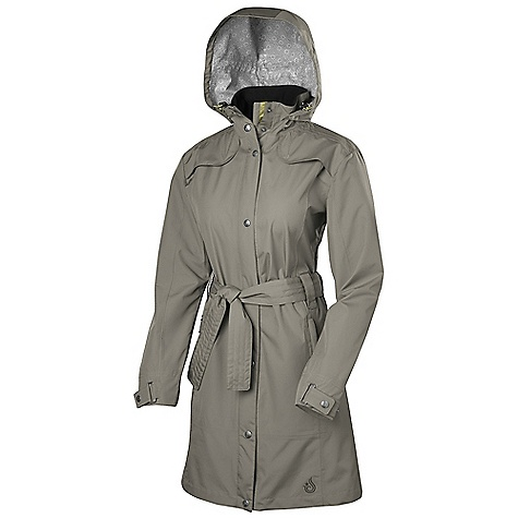 Free Shipping. Isis Women's Belted Trench DECENT FEATURES of the Isis Women's Belted Trench Cocona Fully seam-sealed construction Full-coverage mid-thigh length Removable hood for desired versatility Convenient locker loop inside neck Double storm flap with rain channels prevent water from penetrating the zipper Sophisticated metal snap cuff closure 2-way center front zipper The SPECS Body Length: 36in. Fabric: 100% Polyester - $188.95