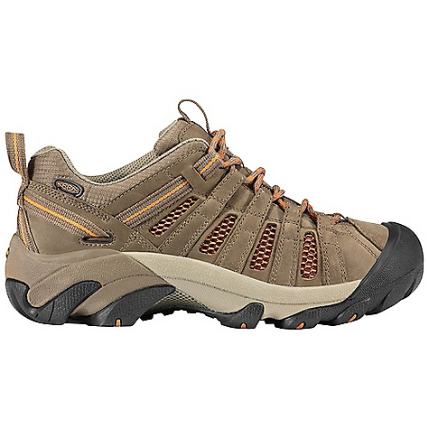 Camp and Hike The Women's Voyageur Boot by Keen. Keep your cool under pressure with the Voyageur from KEEN. Mesh lining replaces a waterproof barrier for continual airflow. The rugged Outsole finds a sure grip on rough terrain with multi-directional lugs. An ESS shank is built in for torsional stability, letting you keep your mind on the task at hand. Features of the Keen Women's Voyageur Boot Waterproof nubuck leather and breathable mesh Upper Removable metatomical Dual Density EVA Footbed Torsion stability ESS shank S3 heel support structure Dual Density compression molded EVA Midsole 4mm multi-directional lugs Non-marking rubber Outsole - $114.95