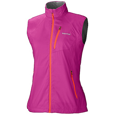 Entertainment Free Shipping. Marmot Women's Stride Vest DECENT FEATURES of the Marmot Women's Stride Vest Wind Resistant, Water Repellent, and Breathable DriClime Bi-Component Wicking Lining Hand Pockets Interior Pocket DriClime Lined Collar and Chin Guard Reflective Logos The SPECS Weight: 5.3 oz / 150.3 g Center Back Length: 26in. Fit: Regular 100% Polyester Ripstop DWR 1.5 oz/yd - $89.95