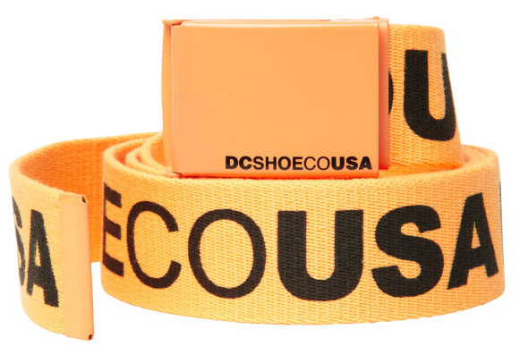 Skateboard Key Features of the DC Chinook 5 Belt: One size Reversible scout belt with larger DC script print and metal buckle with screen printed script branding 100% Polyester - $15.00