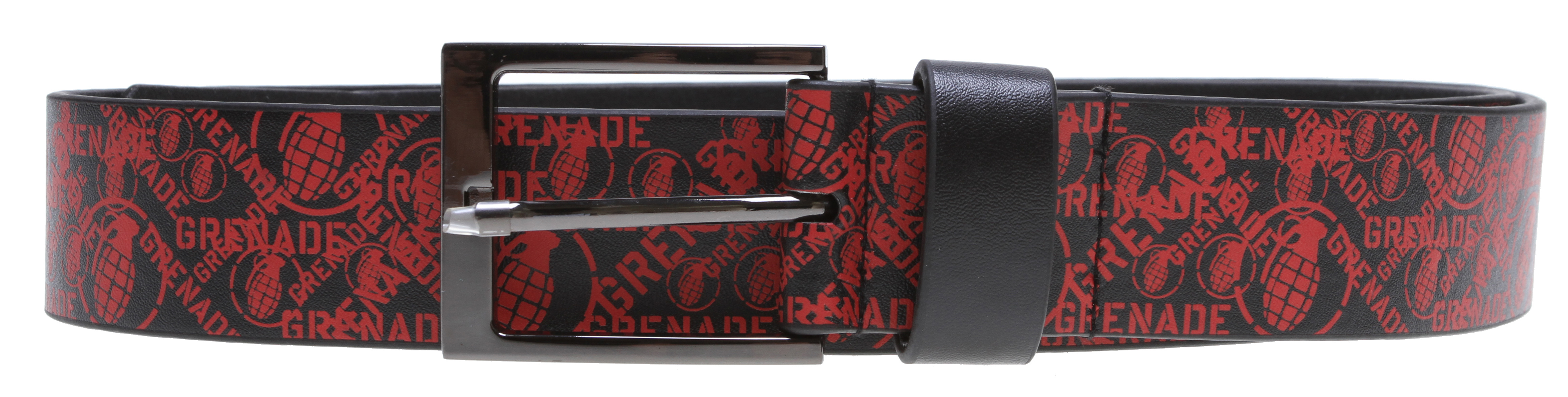Skateboard Key Features of the Grenade Attack Belt: Leather Screen printed graphics - $15.00