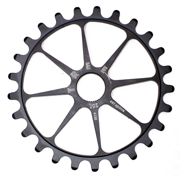 Fitness Key Features of the Tree 4130 Spline Drive Sprocket 25T: Spline drive fits 19mm 48 spline spindles Teeth: 25 Spindle Hole Diameter: 19mm/.750 Material: Chromoly Defined Color: Silver Color: Raw Catalog Page: 270 Weight/Dims: .17 lbs. 4 x 4 x 1 - $29.99
