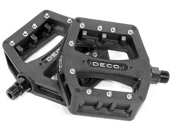 "BMX Key Features of the Deco Pc BMX Pedals 9/16"": Pedal Type: Platform Intended Use: BMX Pedal Spindle: 9/16"" Defined Color: Black Color: Black Catalog Page: Weight/Dims: 1.04 lbs. 6 x 5 x 2.25 - $26.95"