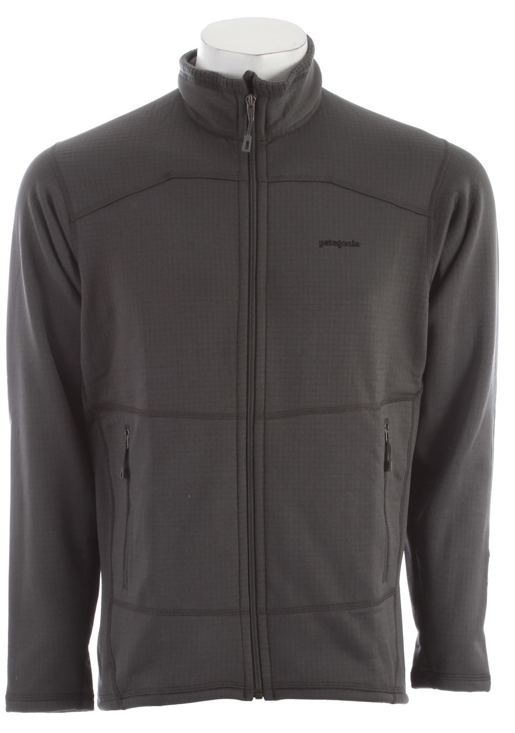 The optimal full-zip midlayer or baselayer for alpine endeavors in demanding conditions, the R1 Jacket is made with Regulator grid fleece for outstanding stretch, breathability, compressibility and durability. FABRIC: 6.8-oz Polartec Power Dry 93% polyester (41% recycled)/7% spandexKey Features of the Patagonia R1 Full Zip Fleece: Slim fit Versatile R1 fleece provides excellent stretch, warmth, wicks moisture and breathes in a variety of temperatures Interior high/low grid fleece enhances compressibility, airflow and dry time Microfiber face speeds dry time and allows for easy layering Off-shoulder seam construction reduces bulk under a pack Two zippered handwarmer pockets - $104.95
