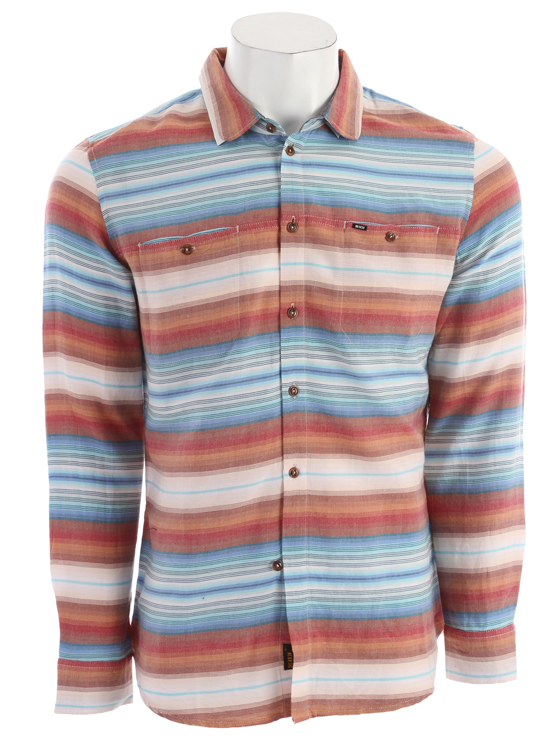 Key Features of the KR3W Dreamer L/S Shirt: 100% cotton yarn dyed horizontal ombre stripe - $41.95
