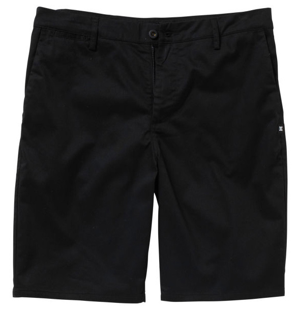 "Skateboard Key Features of the DC Straight Worker Shorts: Straight fit workwear short Nylon Coil zipper DC Woven label trim details Back patch pockets 20.5"" 60% Cotton / 39% Polyester / 1% Spandex - $27.95"