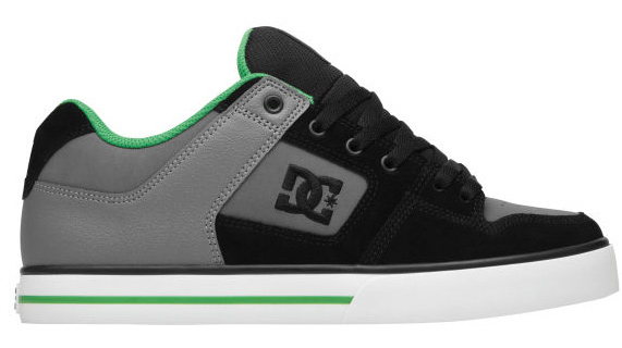 "Skateboard Key Features of the DC Pure Skate Shoes: Color, Graphics And Materials Inspired By Athlete Travis Pastrana Nubuck And Leather Upper Foam Padded Tongue And Collar For Comfort Vent Holes For Breathability Metal Eyelets Performance Wrap Cup Sole Construction DGT Rubber Technology For Durability And Grip DC's Trademarked ""Pill Pattern"" Tread - $38.95"