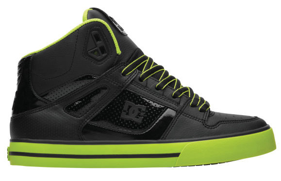 "Skateboard Key Features of the DC Spartan Hi WC Skate Shoes: Durable Suede, Nubuck Or Leather Upper Foam Padded Tongue And Collar For Comfort And Support Vent Holes For Breathability TPU Eyelets Performance Wrap Cup Sole Construction Abrasion-Resistant Sticky Rubber Outsole DC's Trademarked ""Pill Pattern"" Tread. - $51.95"