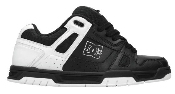 "Skateboard Key Features of the DC Stag Skate Shoes: Action Nubuck & Leather Upper Injected TPR Logo Molded TPU Eyestay Mesh Collar & Underlays Medial Perforations for Breathability Foam Padded Tongue & Collar for Comfort Cup Sole Construction DC's Trademarked ""Pill Pattern"" Tread. - $48.95"