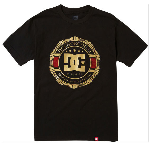 Skateboard Key Features of the DC Rd Lux Crest T-Shirt: Rob Dyrdek Teamworks Collection Standard Fit Graphic Printed with Softhand Ink 100% Cotton - $24.00