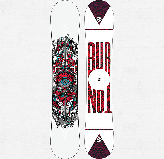 Snowboard The White Collection Pro Snowboard - exact board Shaun rides