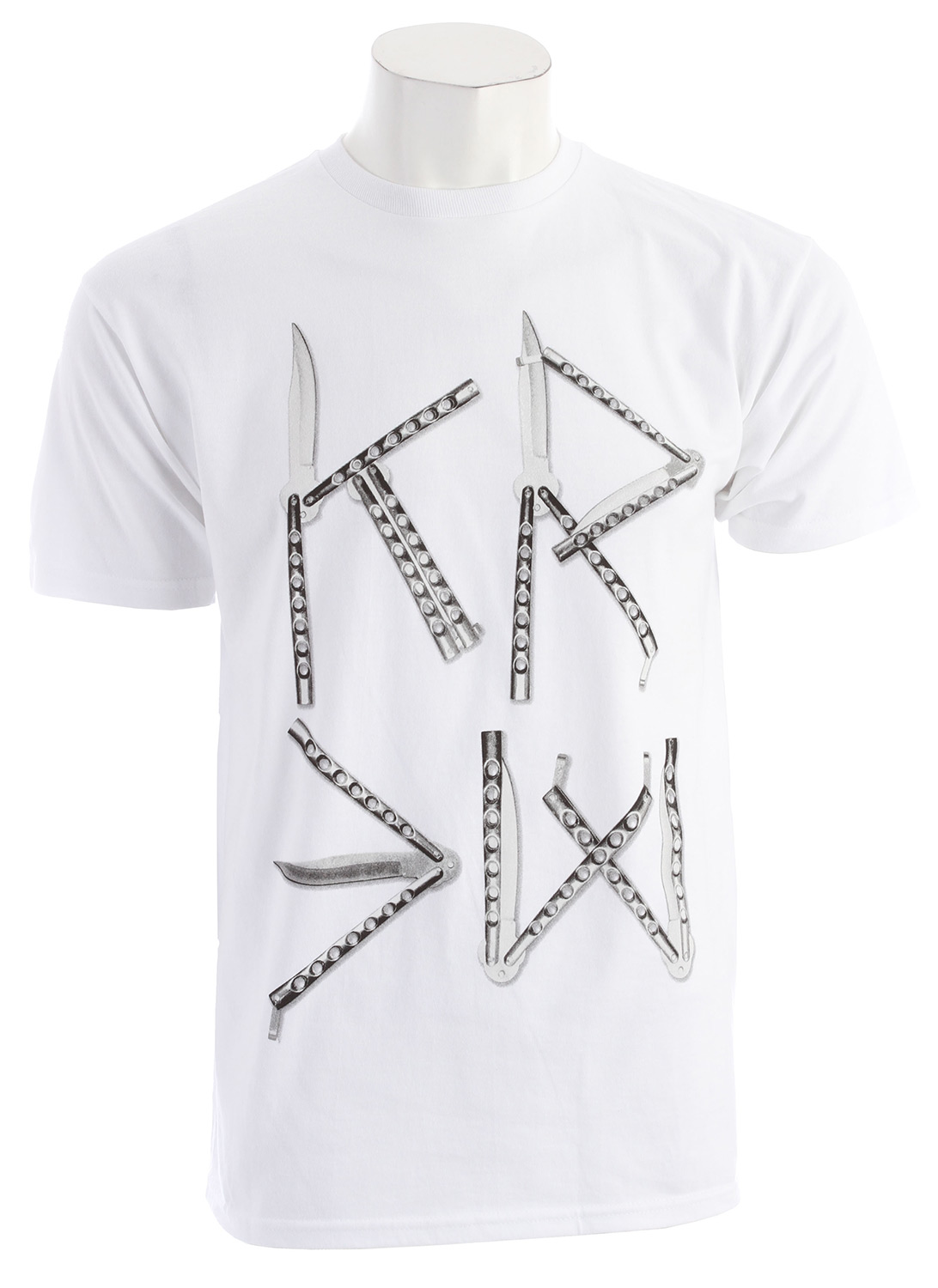 didn't your mother ever tell you to never play with knives  Well we found a loop hole with the KR3W Knives Regular T-Shirt! (Don't worry mothers, no real knives are included with this product .Key Features of the KR3W Knives Regular T-Shirt: 100% cotton 30 singles regular - $13.95