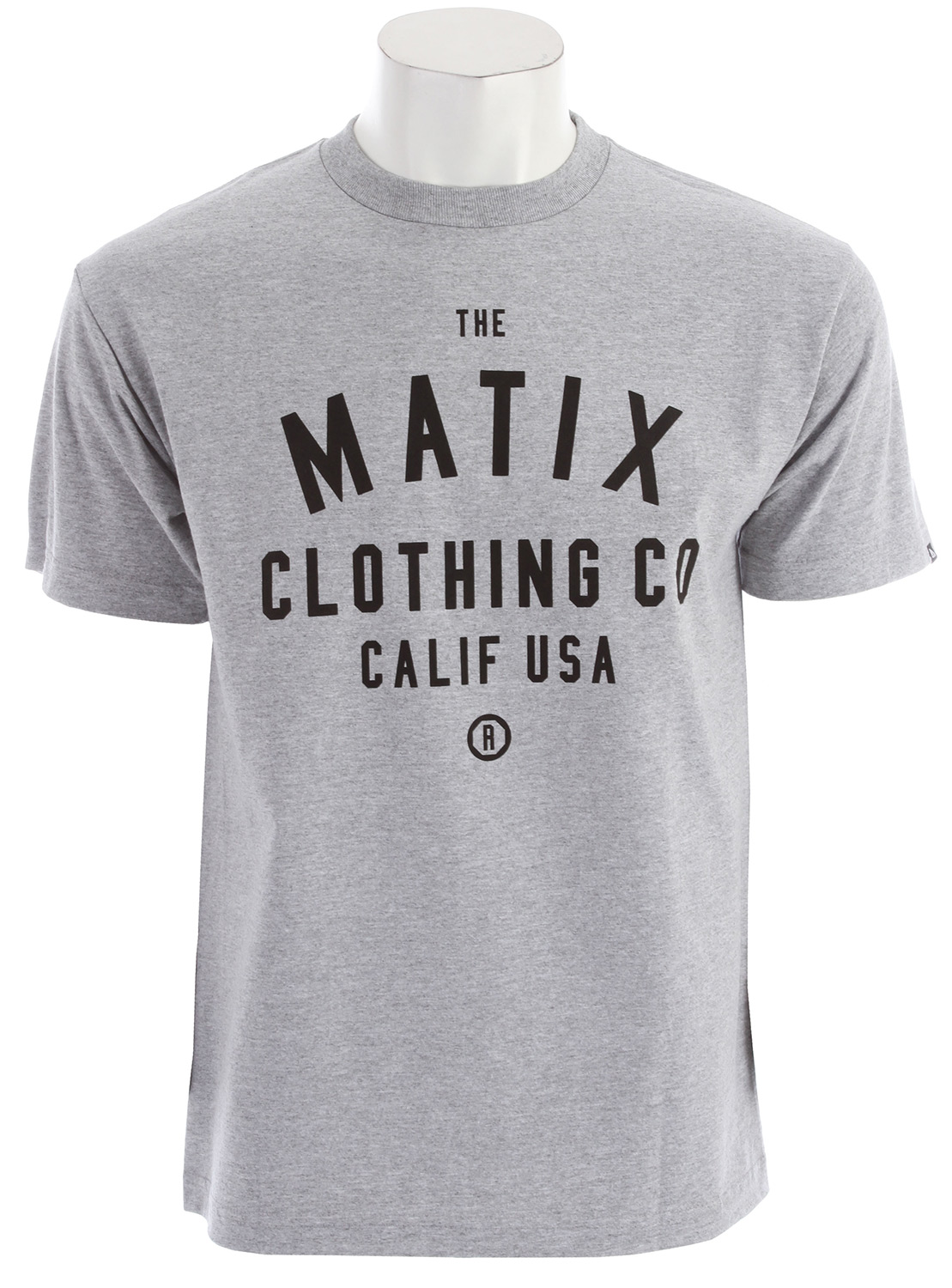 The Matix Calif T-Shirt is a simple, yet interesting shirt that avoids gaudy graphics or images in favor of a balanced text based logo.  A standard fit makes this shirt a great and comfortable option for any guy and the all-cotton construction provides comfort and reliability.  This shirt is a worthy addition to anyone looking for a style upgrade.Key Features of the Matix Calif T-Shirt:  Inkprint with cuff label and Monovert lower left back hit.  Standard Fit.  Material: 100% Cotton - $7.95