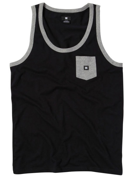Skateboard Key Features of the DC Contra Tank: Cotton Poly jersey tank Contrast rib and pocket DC Custom woven label trim package 60 % Cotton / 40% Polyester - $12.95