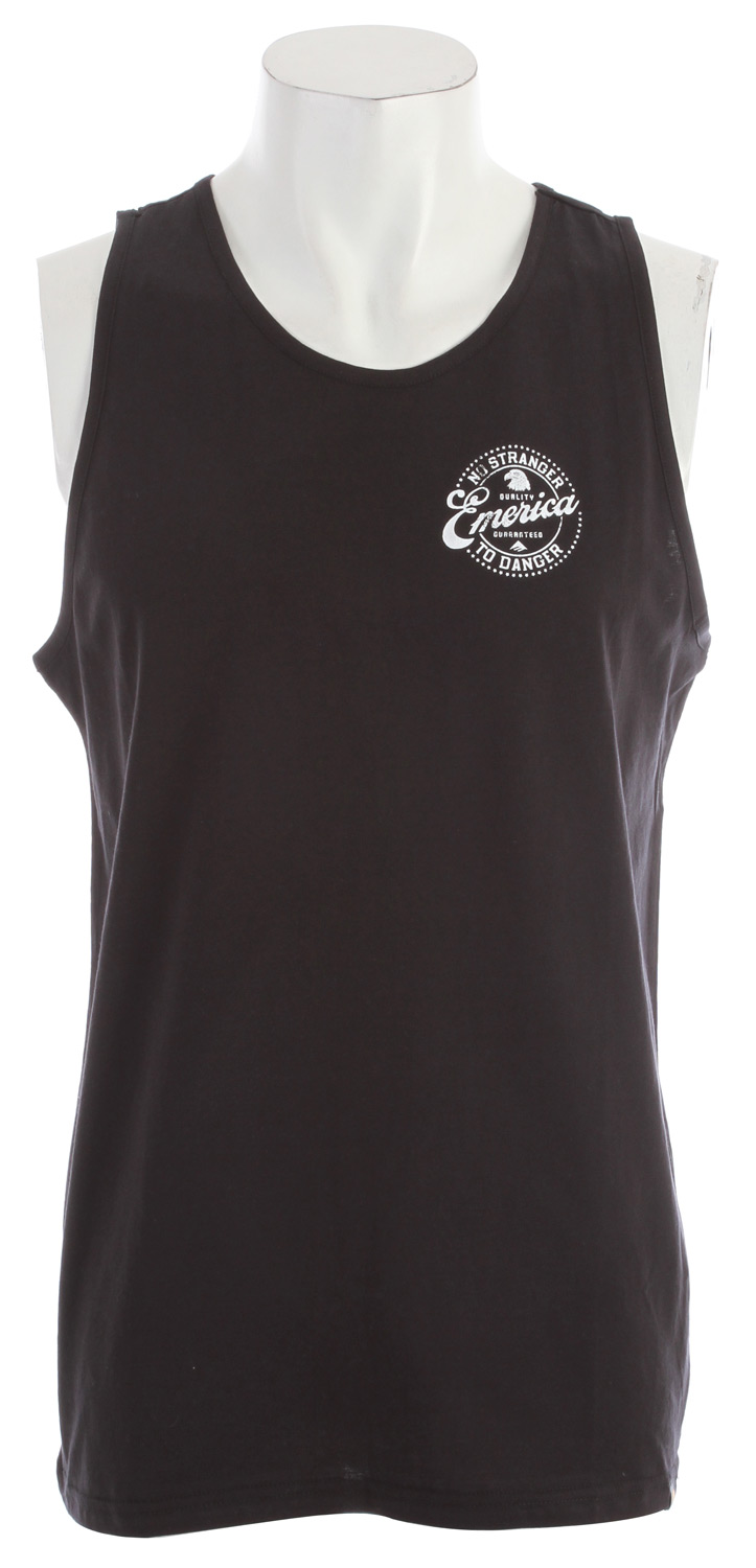 Surf 100% cotton jersey tank top with screen-print on wearer's left chest - $14.95