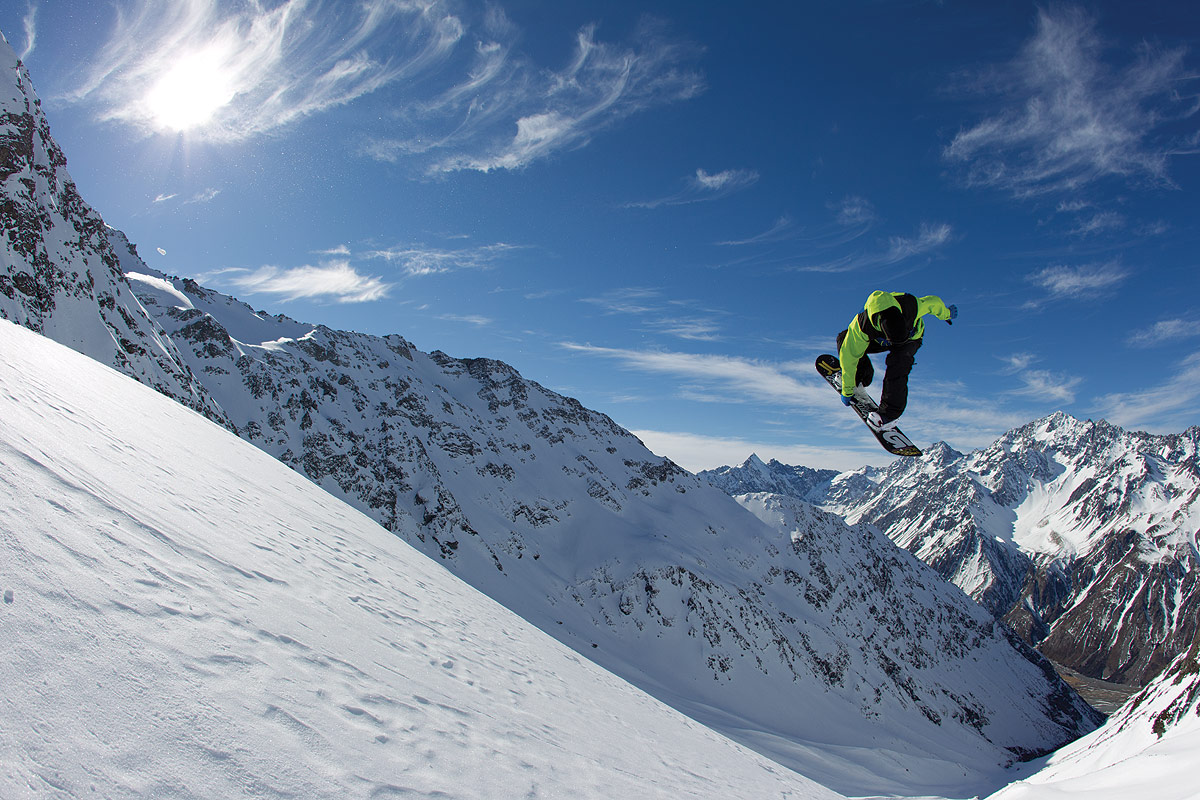 Snowboard Riding High