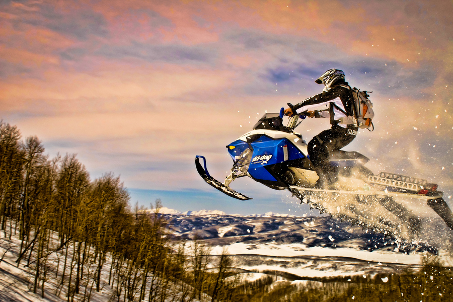 Snowmobile Afternoon Ride on a Ski Doo