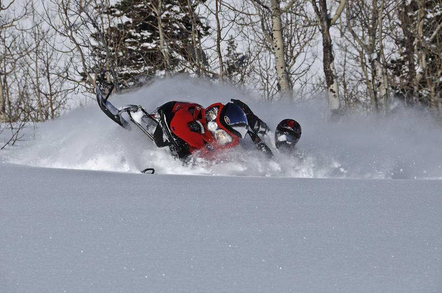 Snowmobile In Your Face - Grandview, Utah
