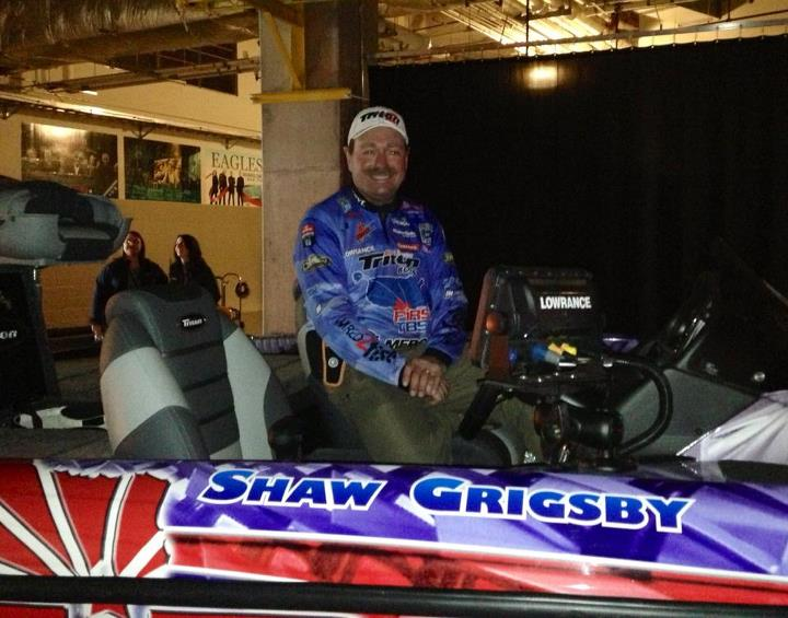 Fishing Shaw Grigsby ready to weight in day two at the Bassmaster Classic.