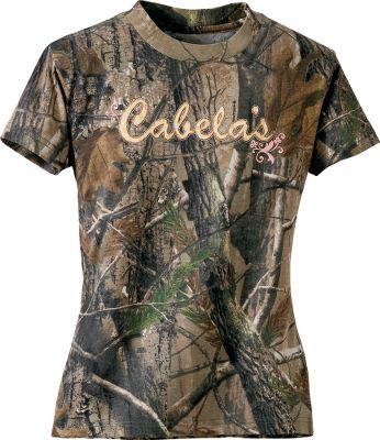 Hunting Perfect for the girl who cant wait to get in the woods. Made of a soft and breathable 60/40 cotton/polyester blend. Imported. Sizes: S-XL.Camo pattern: Realtree AP. - $14.88