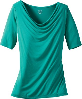 Fitness 96/4 rayon/spandex creates the feel of silk with just a touch of stretch for all-day comfort. Imported.Sizes: S-2XL.Colors: Deep Iris, Emerald Teal. - $24.99