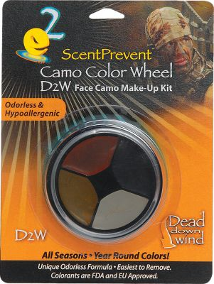 Hunting The five-color selection, Pitch Black, Shady Brown, Tree Bark Grey, Dark Grey and Forest Green, is ideal for year-round hunting. Has a full two-year useful life after you open the unique twist-lock cap. Hypoallergenic formula is safe on sensitive skin. Made in USA. Color: Camo. Type: Camo Makeup. - $4.99