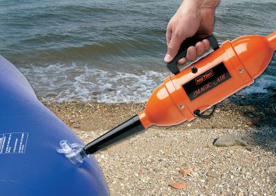 Wake The best friend your inflatable raft, mattress or pool ever had. This handheld electric unit takes the work out of inflating or deflating. Magic-Air produces a high volume of air fast. Ideal for any item that has inflatable valve, including toys. The lightweight, compact, all-steel design features a weather-resistant baked enamel finish. Store it aboard boats, campers, RVs and more. Perfect for indoor or outdoor applications. Tapered end adapter and power cord included.Available in:12-volt110-volt - $45.88