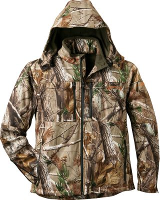 Hunting Quiet scent-control and weather-dominating performance come together in durable outerwear from the experts at ScentLok. The wind-blocking, moisture-shedding and breathable soft shell of the ScentLok Mens Head Hunter Carbon Alloy Jacket is constructed of abrasion-resistant, low-nap, tightly knit polyester that suppresses noise while resisting burs and other cling-ons. Specially tailored with strategically placed articulation and gussets that optimize fit while allowing uninhibited freedom of movement. Polyester lining glides over layers effortlessly. ScentLok technology adsorbs game-spooking odors. A contoured collar, double-articulated elbows and gusseted sides deliver a comfortable fit with the room you need for free and quiet movement when drawing a bow or shouldering a gun. Ample storage comes in the form of four front pockets with waterproof zippers, one back pocket and two internal pockets. Removable, adjustable hood. Zippered sleeves enhance scent control and ventilation. Imported. Sizes: M-2XL. Camo patterns: Realtree AP, Realtree XTRA. Size: XL. Color: Realtree Xtra. Gender: Male. Age Group: Adult. Material: Polyester. - $199.99