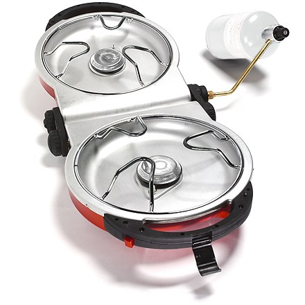 Camp and Hike The Coleman Fold 'N Go two-burner stove is approximately 25% more compact than traditional two-burner stoves, for easy portability! - $69.93