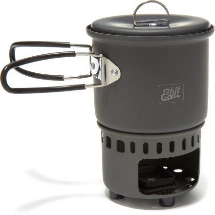 Camp and Hike The Esbit Solid Fuel stove and cookset is a great choice for heating up water or making simple meals on fast and light adventures in the mountains. - $29.95