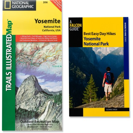 Camp and Hike The Hiking Guide and Trail Map Bundle: Yosemite includes Best Easy Day Hikes: Yosemite National Park and a Trails Illustrated Yosemite National Park trail map. - $9.93