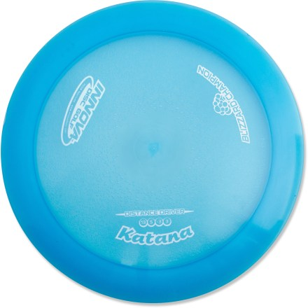Golf The Innova Disc Golf Blizzard Katana distance driver disc is ideal for advanced players who throw huge turnover shots and downwind drives with finesse. Crafted from a blend of resilient polymers to offer the best combination of grip and durability. Innova Disc Golf Blizzard Katana is PDGA approved for use on all disc golf courses. Sorry, color and weight requests cannot be accommodated; please shop in-store for specific colors and weights. - $11.93