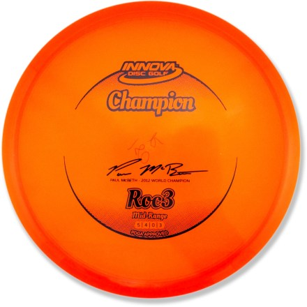 Sports The straight-flying Innova Disc Golf Champion Roc3 mid-range disc excels at controlled approaches and mid-range drives. - $17.00
