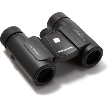 Camp and Hike The powerful Olympus 10 x 21 RCII WP binoculars pack waterproof performance into a lightweight and compact design. When folded, these binoculars slip easily into a pocket. - $43.93