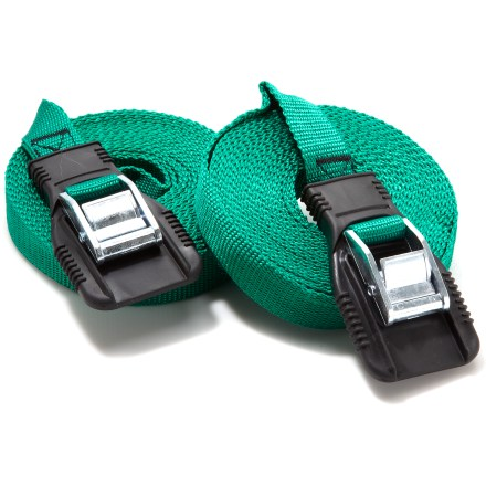 Entertainment The 18 ft. Riverside Heavy Duty Utility Straps are a great choice for tying down kayaks, canoes, luggage or other bulky items on top of your car. - $16.95