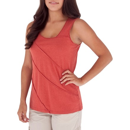 Fitness Its soft fabric and relaxed, casual style make the Royal Robbins Mary Jane tank top suitable for errand running, date-night dinner and everything in between. Combination of hemp and organic cotton feels great against skin; hemp is naturally UV-resistant and also antimicrobial, helping keep odors at bay. Hemp's natural UPF 50+ sun protection helps the tank continuously guard against harmful ultraviolet rays so your skin stays safe no matter how long your day lasts. The Royal Robbins Mary Jane tank top is garment washed for added softness. - $21.83