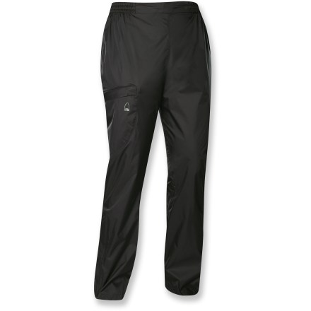 The Sierra Designs Microlight women's petite pants protect against wind and light rain. Plus, they pack up in their own stuff sack so you can throw them in just about any size bag. - $21.83