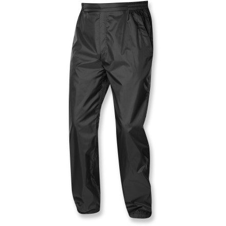 The Sierra Designs Microlight men's pants protect against wind and light rain. Plus, they pack up in their own stuff sack so you can throw them in just about any size bag. - $21.83