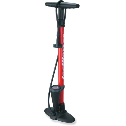 Fitness The Topeak JoeBlow Max HP floor pump uses a sturdy and narrow steel barrel to ensure high-pressure performance, letting you fill your bike tires up to 160 psi (11 bar). - $39.95