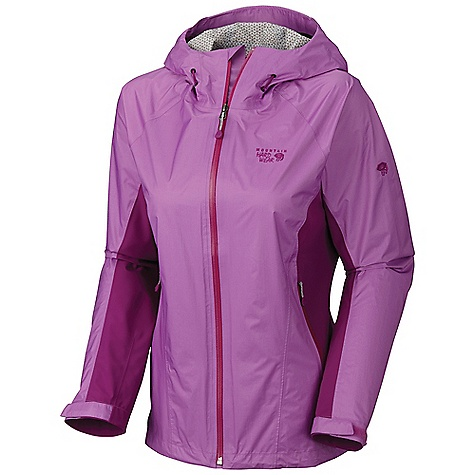 Free Shipping. Mountain Hardwear Women's Stretch Capacitor Jacket DECENT FEATURES of the Mountain Hardwear Women's Stretch Capacitor Jacket Dry.Q EVAP accelerates evaporation for more breathability and comfort Total waterproof protection Stretch back and side panels for increased mobility and comfort Fully adjustable hood with single pull adjustment system The SPECS Average Weight: 11 oz / 312 g Center Back Length: 27in. / 69cm Body: Dry.Q EVAP 15D 2.5L Ripstop (100% nylon) Panel: Dry.Q EVAP Stretch Twill 92% nylon, 8% elastane - $279.95