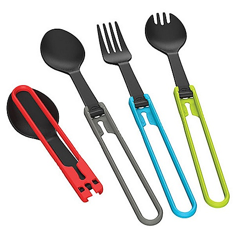 MSR Folding Spoon DECENT FEATURES of the MSR Folding Spoon Updated with the same Secure squeeze-to-fold locking mechanism as our Alpine Utensils Our new Folding Utensils offer improved security in the open position for added reliability when stirring Scraping the dark corners of freeze-dried pouches This product can only be shipped within the United States. Please don't hate us. - $3.95