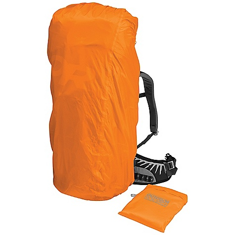 Outdoor Research Lightweight Pack Cover DECENT FEATURES of the Outdoor Research Lightweight Pack Cover HydroLite coated fabric is waterproof and ultralight Waterproof taped seams Elastic drawcord around back and bottom Integrated stuff sack for self-storage The SPECS Dimensions: 5L: 13in. x 6in. / 33 cm x 15 cm 10L: 15 1/4in. x 7in. / 39 cm x 18 cm 15L: 17 1/2in. x 8in. / 44 cm x 20 cm Volume: 5L: 305 cu. in. 10L: 610 cu. in. 15L: 915 cu. in. Average Weight: 5L: 0.9 oz. / 26 g 10L: 1.1 oz. / 31 g 15L: 1.5 oz. / 43 g This product can only be shipped within the United States. Please don't hate us. - $38.95