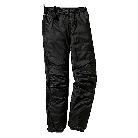 Free Shipping. Patagonia Men's Micro Puff Pants DECENT FEATURES of the Patagonia Micro Puff Pants Lightweight, windproof shell made of recycled polyester and treated with a Deluge DWR (durable water repellent) finish for wet-weather protection 100-g PrimaLoft One insulation is warm, even when wet, durable and compressible Elasticized waist with gripper elastic in back and hook-and-loop adjustment tabs; 2-way zippered fly with low bulk wind flap Fully separating, 2-way side zips, both with a Deluge DWR finish Articulated knees; reinforced seat and knees Elasticized cuffs with snap closures Regular fit The SPECS Weight: 17.4 oz / 493 g Fabric: Shell: 1.5-oz 32-denier 100% recycled polyester Insulation: 100-g PrimaLoft One 100% polyester Lining: 1.4-oz 22-denier 100% recycled polyester Shell and Lining have a Deluge DWR (durable water repellent) finish This product can only be shipped within the United States. Please don't hate us. - $179.00