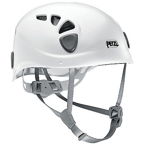 Climbing On Sale. Free Shipping. Petzl Elios Climbing Helmet DECENT FEATURES of the Petzl Elios Climbing Helmet ABS shell and expanded polystyrene liner ensure durability and a lighter weight Helmet is entirely adjustable and adapts to all head shapes Headband adjustment system is easy and precise with two push-buttons Height adjustment of rear headband by increments System allows adjustment of Y-shaped webbing straps around ears Sliding ventilation slots adapt to weather conditions: open for excellent ventilation or closed against cold Comfort foam is quilted and lined with absorbent fabric; washable Four clips for headlamp attachment Headband adjustment folds into the shell for storage and transportation Compatible with VIZION face shield Two sizes cover a maximum range of head shapes Stackable packaging is compact while allowing for proper display of helmets The SPECS Case Quantity: 8 Material: ABS shell, expanded polystyrene liner, polyester webbing strap Certification(s): CE EN 12492, UIAA 106 The SPECS for 1 Head Circumference: 48 - 56 cm Weight: 300 g The SPECS for 2 Head Circumference: 53 - 61 cm Weight: 330 g ALL CLIMBING SALES ARE FINAL. - $47.99