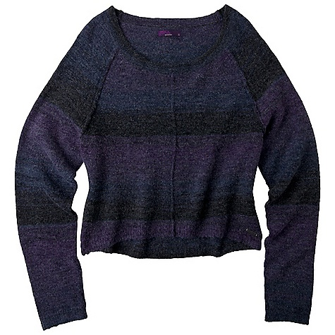Free Shipping. Prana Women's Carly Sweater DECENT FEATURES of the Prana Women's Carly Sweater Textured, ombre sweater knit Dropped tail hem, raglan sleeve and scoop neck The SPECS Fabric: 48 Acrylic / 26 Polyester / 23 wool / 3 Spandex - $74.95