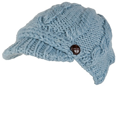 Prana Nina Beanie DECENT FEATURES of the Prana Nina Beanie Cable knit visor beanie style Fleece inner band Soft and cozy with light color offering Front band with button tab trim detail Standard Fit The SPECS Fabric: 50 Wool / 50 Acrylic - $34.95
