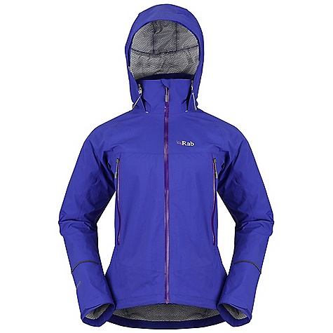 Free Shipping. Rab Women's Maverick Jacket DECENT FEATURES of the Rab Women's Maverick Jacket eVent DV Lite 2.5L fabric Rollaway hood, wired peak YKK Aquaguard front zip, internal flap, rain drain 2 YKK Aquaguard zipped A-line pockets Velcro cuffs, hem drawcord Reflective trim Fit: Regular The SPECS Weight/m2: 95 g/m2 Comp: 100% nylon Total Weight: 13 oz / 380 g (estimate) This product can only be shipped within the United States. Please don't hate us. - $225.00