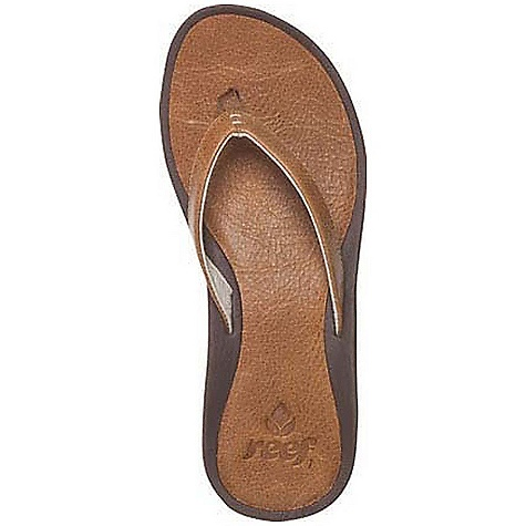 Surf Free Shipping. Reef Women's Skinny J-Bay Sandal DECENT FEATURES of the Reef Women's Skinny J-Bay Sandal ISA Lite (low impact to the environment) full grain leather strap ISA Lite leather deck 51% post-industrial recycled triple density EVA footbed with anatomical arch support 25% recycled rubber outsole with icon tulip logo - $63.95