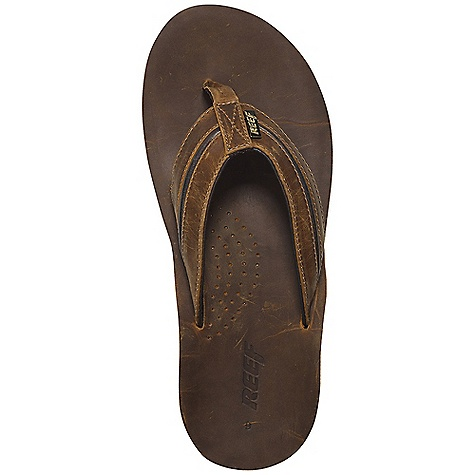Surf Free Shipping. Reef Men's Reef Playa Cervesa Sandals DECENT FEATURES of the Reef Men's Reef Playa Cervesa Sandals Isa lite in.low impact to the environmentin. full grain leather upper and footbed Asymmetrical upper design provides style and support with super soft glove-like pig skin lining Thirst quenching technology (church key bottle opener on the outsole) Deep contoured compression molded EVA midsole Reef supreme design outsole made of 25% recycled rubber This product is hung on a in.bottoms upin. hanger to expose outsole features and bottle opener - $84.95