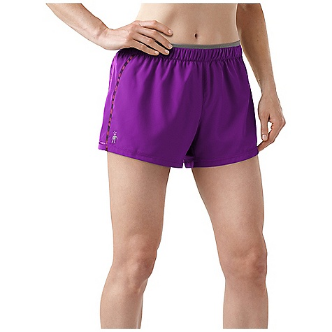 Fitness Free Shipping. Smartwool Women's PhD Run Short DECENT FEATURES of the Smartwool Women's PhD Run Short Semi-Form Fit - Mid Rise Woven outer short with Merino Wool interior brief for comfort and thermoregulation Fitted internal brief is seamlessly constructed with knit-in ventilation in high heat zones Seamless waistband with internal drawcord Secure back zip pocket with semi-auto locking zipper pull 360deg Reflectivity; Reflective SmartWool Logo at wearer's right hem The SPECS Garment Weight: 3.53 oz / 100 g Inseam: 3.5in. / 9 cm Outer Short: 100% Recycled Polyester Lining: 79% Merino Wool, 18% Nylon, 3% Elastane - $74.95